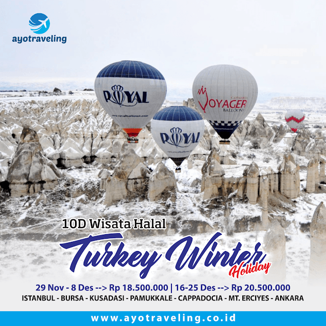 "Paket Wisata Tour ""HALAL TOUR TURKEY WINTER HOLIDAY 10D DEC 2018"""